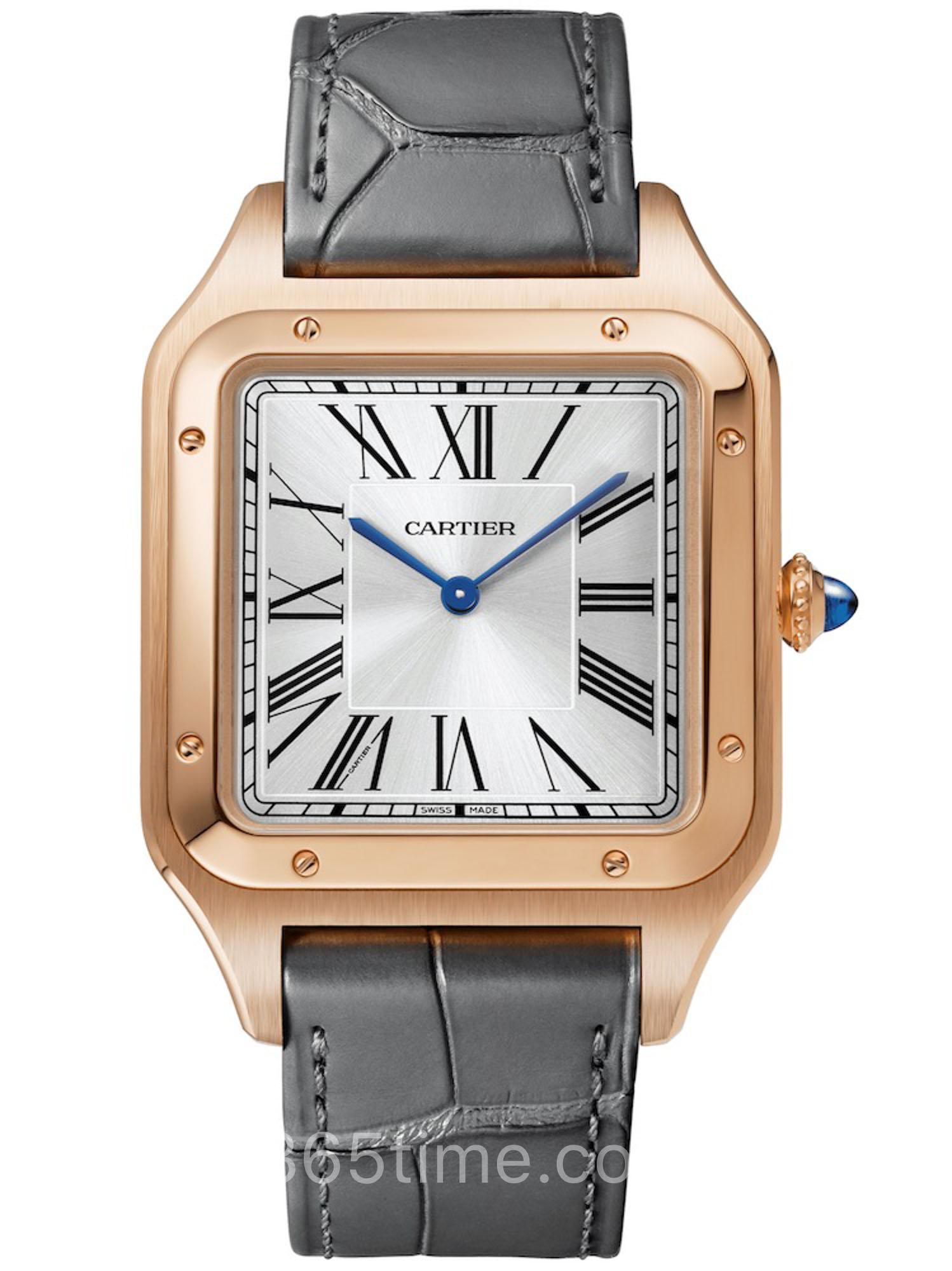 卡地亚SANTOS-DUMONT腕表XL号玫瑰金款腕表CRWGSA0032