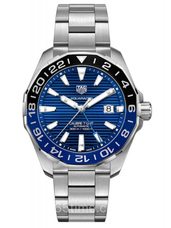 泰格豪雅竞潜300米防水GMT不锈钢WAY201T.BA0927