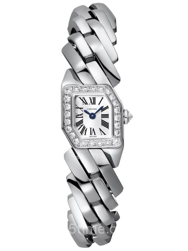 卡地亚Maillon de Cartier18K白金镶钻表盘女装WJBJ0003