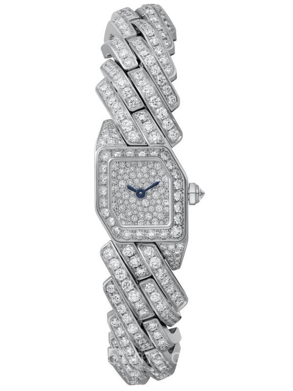 卡地亚Maillon de Cartier18K白金镶钻女装WJBJ0005