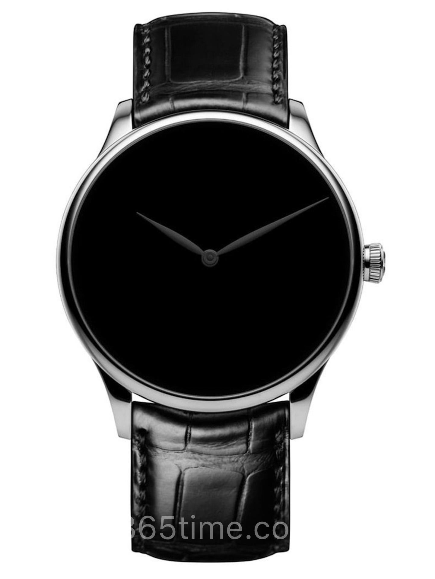 亨利慕时勇创者系列Venturer黑色指针白金款腕表2327-0222