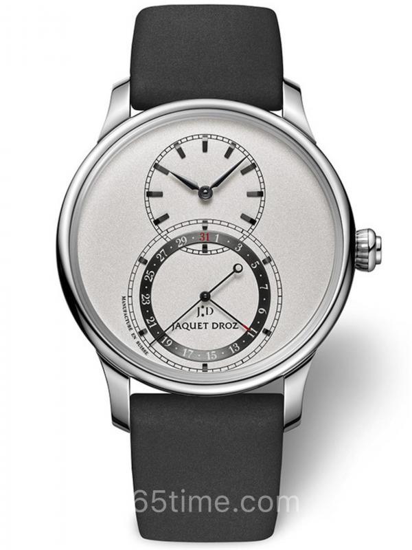 雅克德罗银色日期显示大秒针腕表J007020351