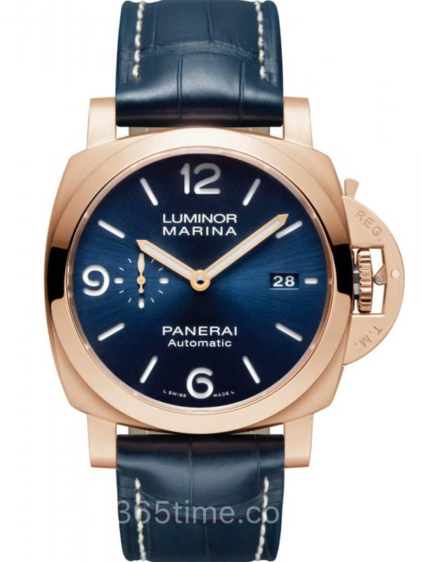 沛纳海LUMINOR MARINA PANERAI GOLDTECHTM 庐米诺红金PAM01112