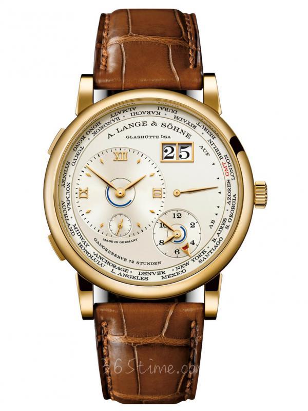 朗格Lange 1 Time Zone世界时大日历手动限量136.021