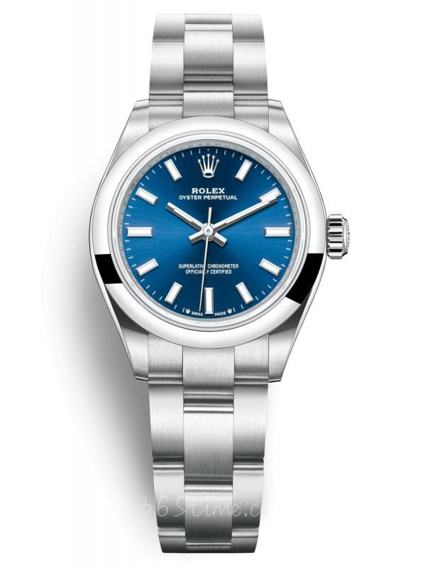 劳力士蚝式恒动型 28亮蓝色表盘276200-0003