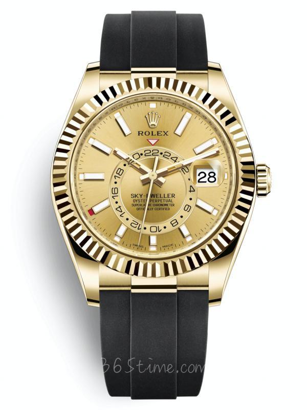 劳力士蚝式恒动纵航者型黄金款GMT年历326238-0007