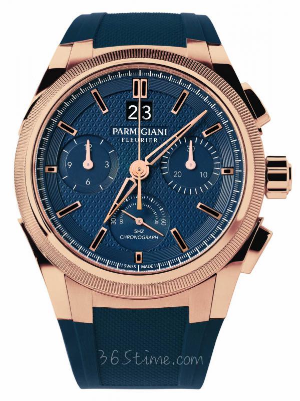 帕玛强尼通达系列Tondagraph GT玫瑰金蓝色盘面腕表pfc903-1500340-x03182 / -b00782