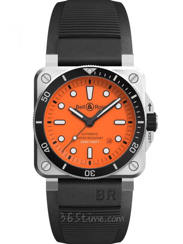 柏莱士BR 03-92 DIVER ORANGE橙色BR0392-D-O-ST/SRB