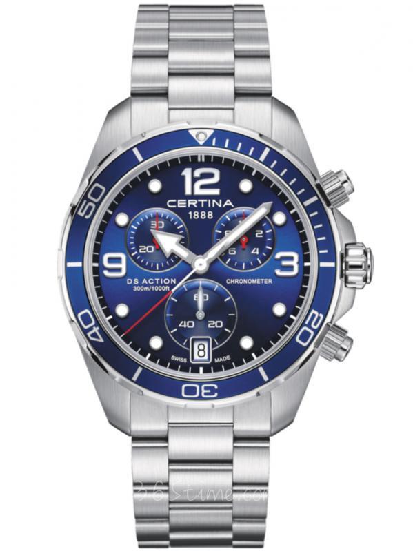 雪铁纳DS动能系列石英潜水计时码表C032.434.11.047.00