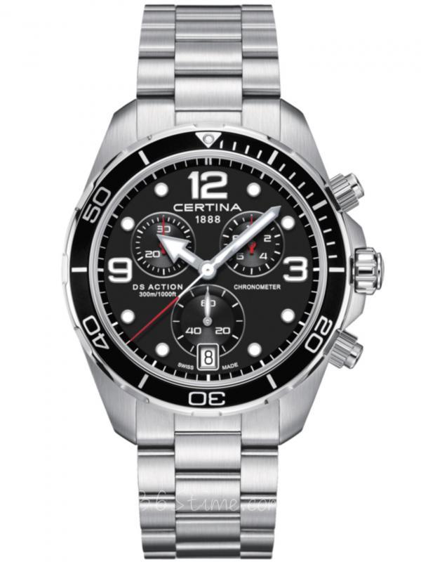 雪铁纳DS动能系列石英潜水计时码表C032.434.11.057.00