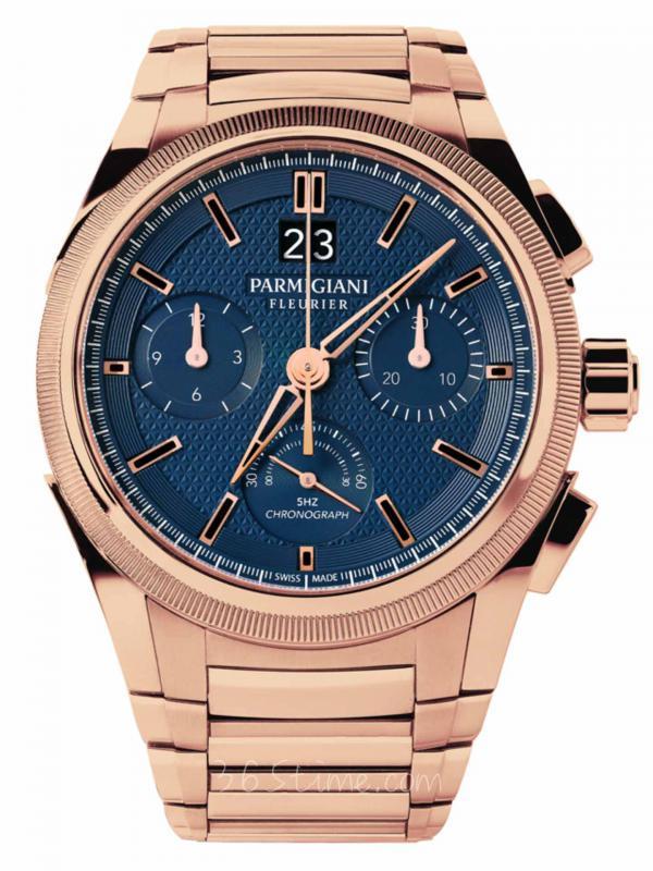 帕玛强尼TONDA GT玫瑰金大日历蓝色表盘计时腕表PFC903-1500340-B00782