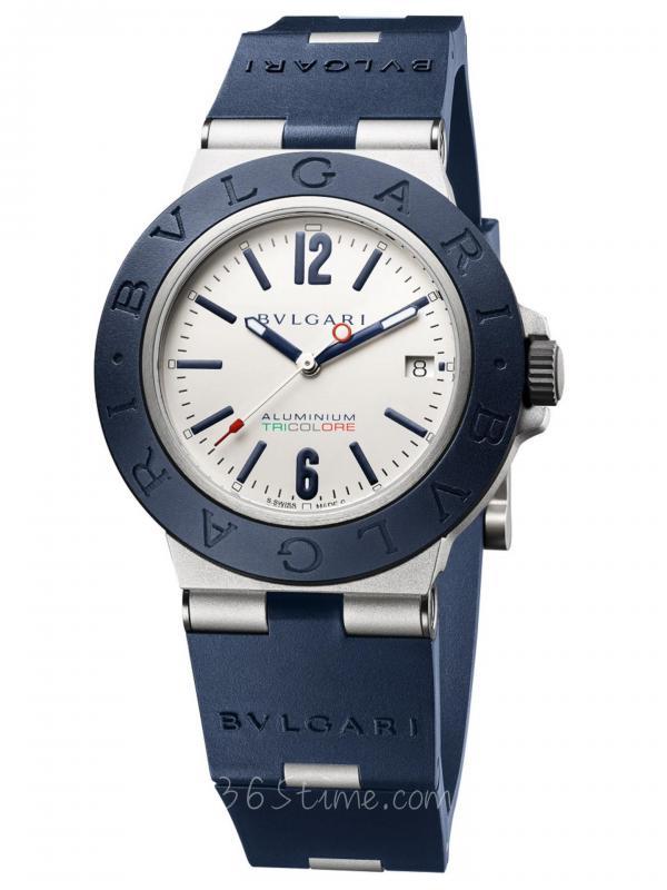 宝格丽BVLGARI系列Aluminium Tricolori 蓝色表圈大三针腕表103514