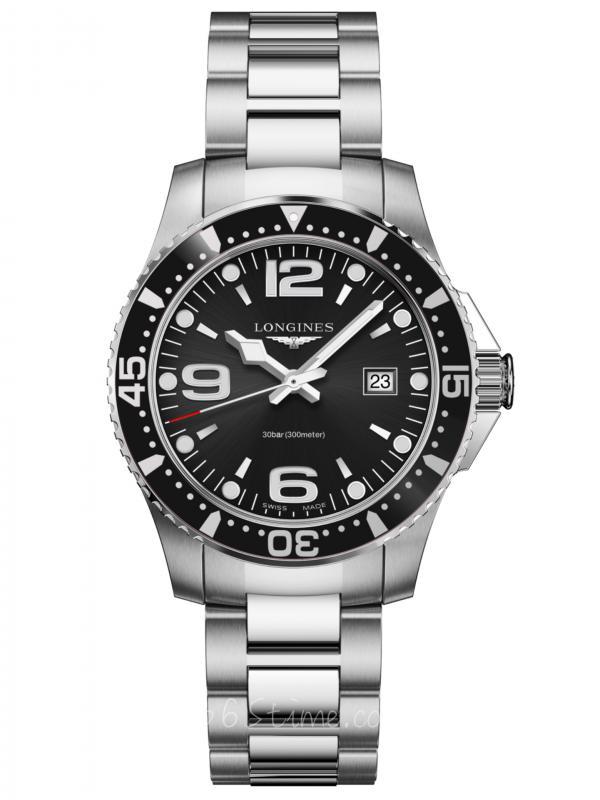 浪琴HydroConques康卡斯石英潜水表L3.730.4.56.6
