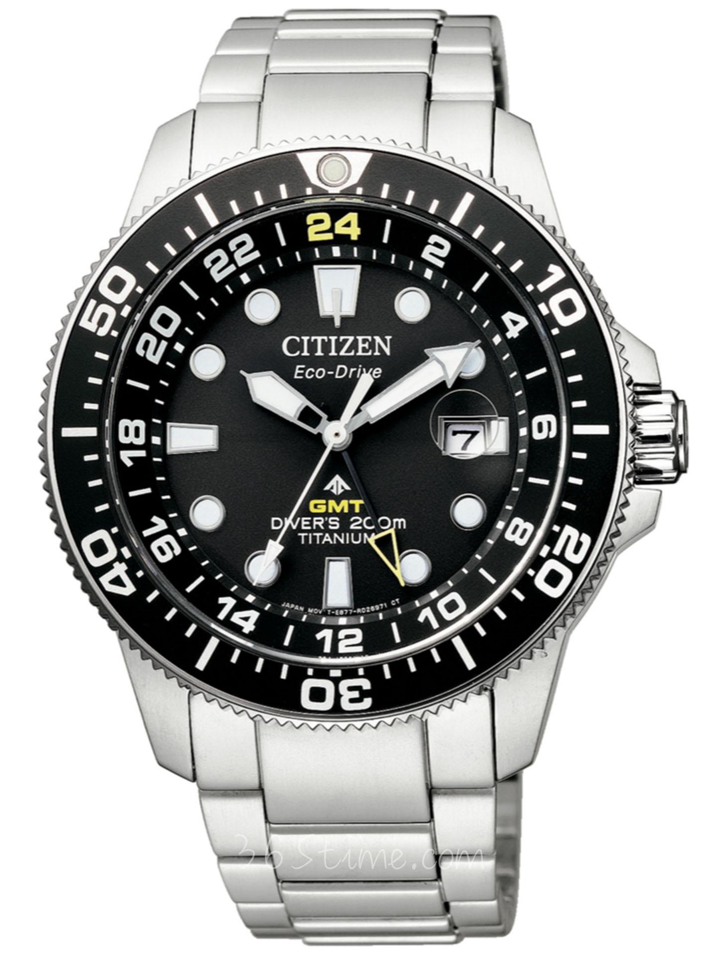 CITIZEN西铁城Promaster系列GMT光动能潜水表BJ7110-89E