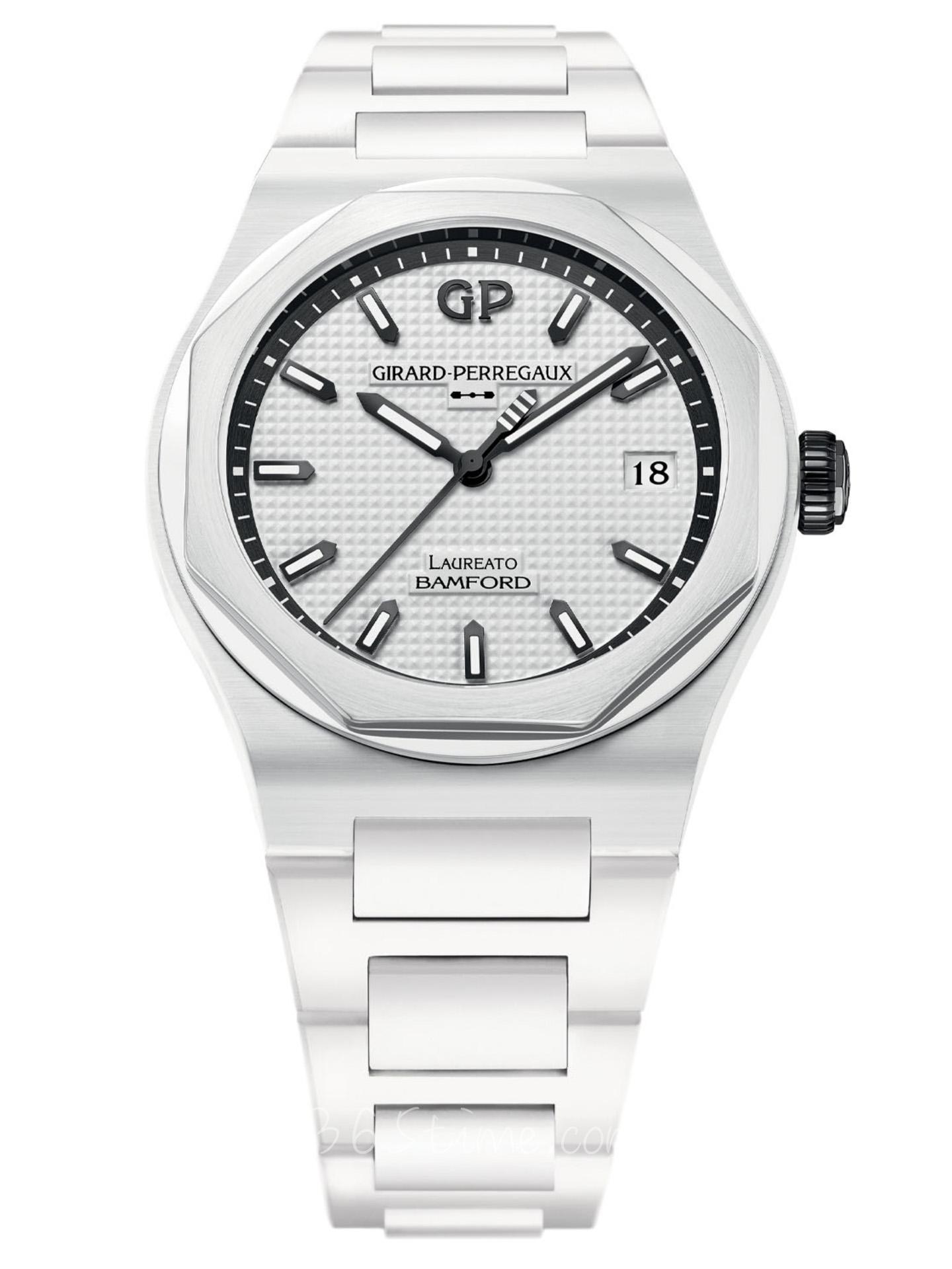 芝柏Laureato系列 X Bamford Ghost白色陶瓷限量版腕表81005-32-733-32A