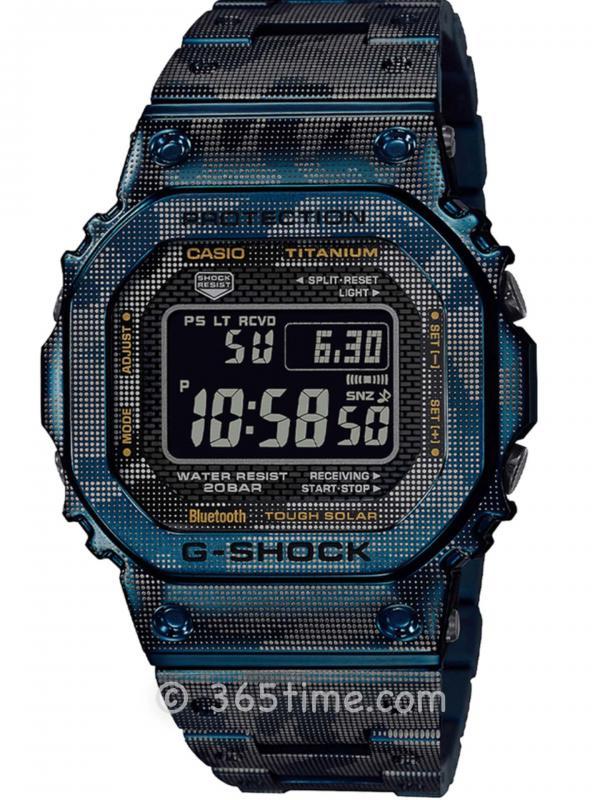 卡西欧G-SHOCK GMW-B5000钛金属迷你纹路方形GMW-B5000TCF-2