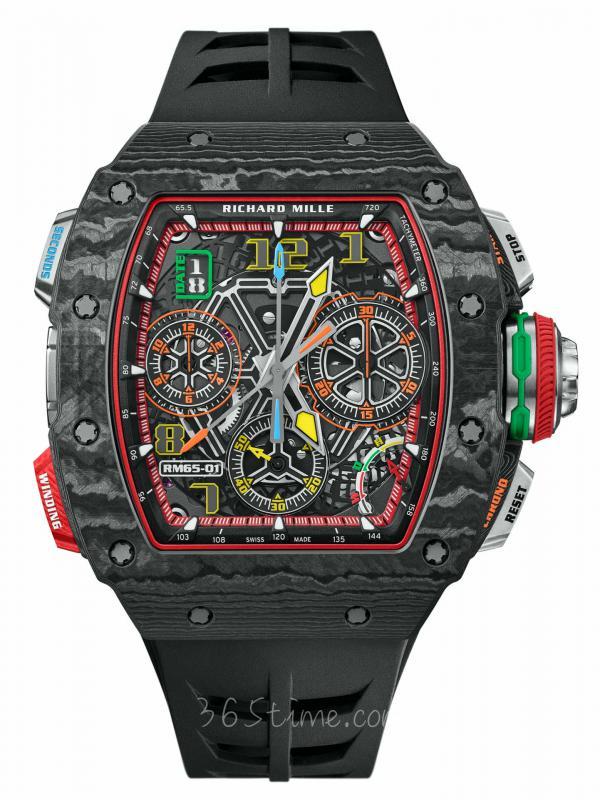 里查德米尔RM 65-01双秒追针自动上链计时码表RM 65-01
