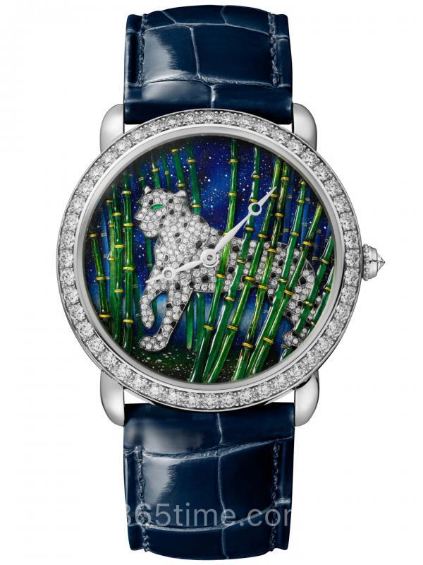 Cartier卡地亚RONDE LOUIS CARTIER猎豹装饰珠宝CRHPI01302