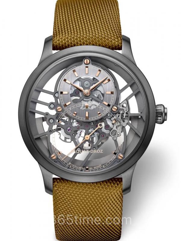 雅克德罗大秒针SKELET-ONE镂空陶瓷腕表J003525547