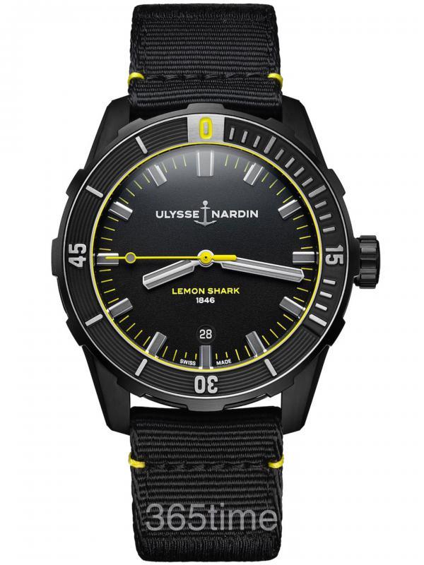 雅典Diver潜水系列柠檬鲨限量版潜水表8163-175LE/92-LEMONSHARK