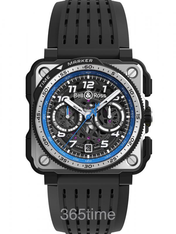 Bell & Ross 柏莱士 Alpine F1® Team计时表自动计时码表限量BRX1-A521/SRB