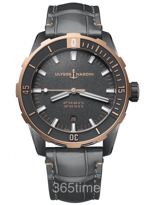 雅典Diver潜水8163-175/GREY-5N
