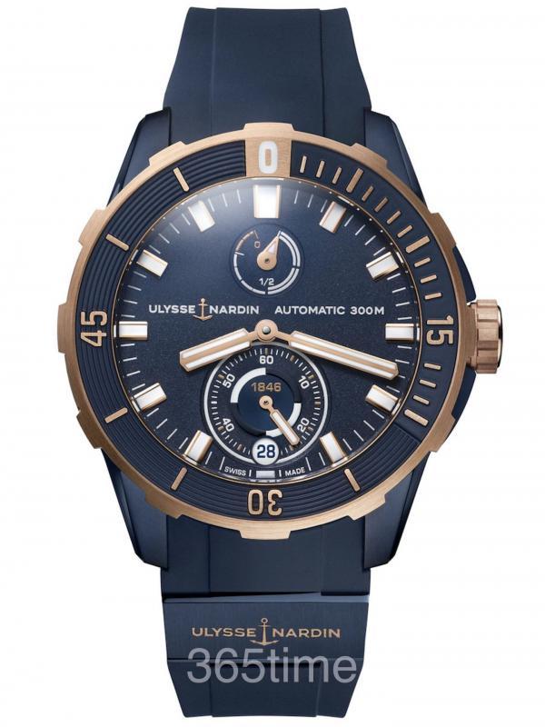 雅典Diver潜水系列天文台腕表1185-170-3/BLUE
