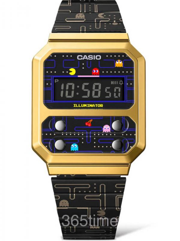 Casio卡西欧PAC-MAN联名款A100WEPC-1B
