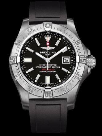 百年灵深潜海狼腕表系列A1733010/B906黑深潜胶带