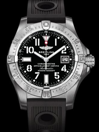 百年灵深潜海狼腕表系列A1733010/B906黑海洋竞赛胶带