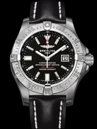 百年灵深潜海狼腕表系列A1733010/BA05黑皮带