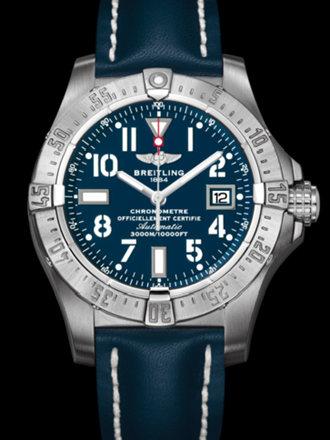 百年灵深潜海狼腕表系列A1733010/C756蓝皮带