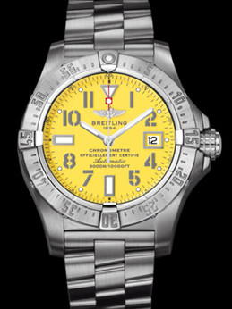 百年灵深潜海狼腕表系列A1733010/I513专业钢带