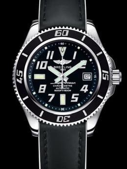百年灵超级海洋42腕表系列A1736402/BA28黑皮带