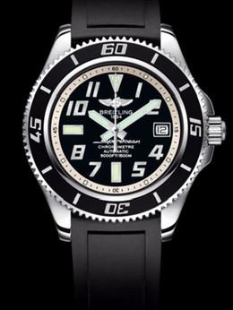 百年灵超级海洋42腕表系列A1736402/BA29黑深潜胶带