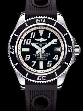 百年灵超级海洋42腕表系列A1736402/BA29黑海洋竞赛胶带