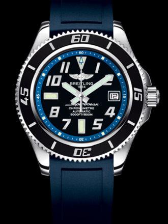 百年灵超级海洋42腕表系列A1736402/BA30蓝深潜胶带