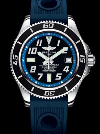 百年灵超级海洋42腕表系列A1736402/BA30蓝海洋竞赛胶带