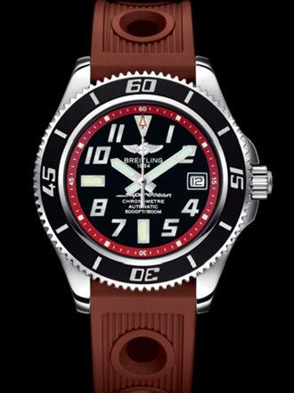 百年灵超级海洋42腕表系列A1736402/BA31棕海洋竞赛胶带