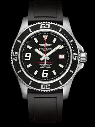 百年灵超级海洋44腕表系列A1739102/BA76黑深潜胶带