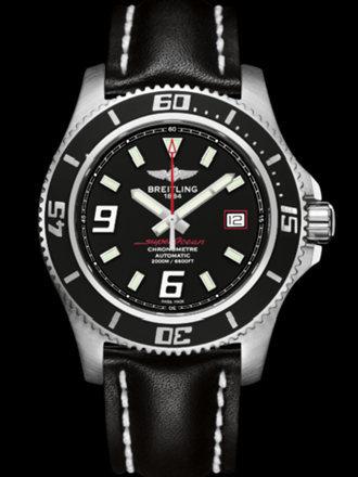 百年灵超级海洋44腕表系列A1739102/BA76黑皮带