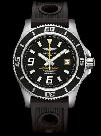百年灵超级海洋44腕表系列A1739102/BA78黑海洋竞赛胶带
