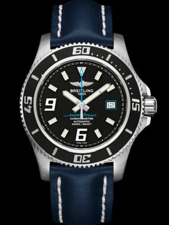 百年灵超级海洋44腕表系列A1739102/BA79蓝皮带