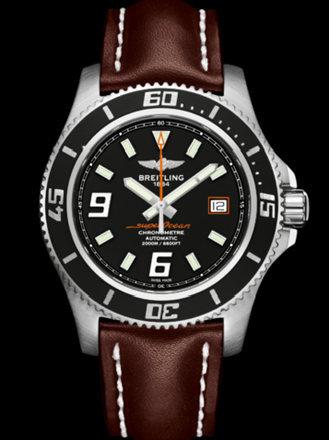 百年灵超级海洋44腕表系列A1739102/BA80棕皮带