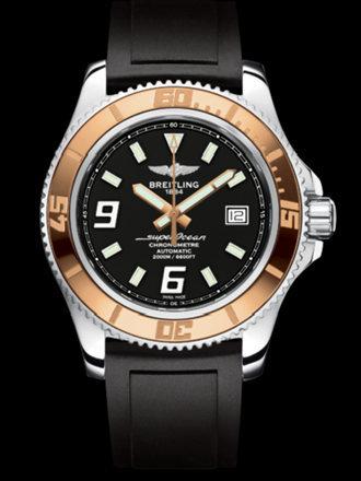 百年灵超级海洋44腕表系列A1739112/BA77黑深潜胶带