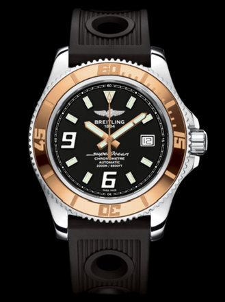 百年灵超级海洋44腕表系列A1739112/BA77黑海洋竞赛胶带