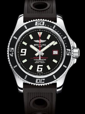 百年灵超级海洋44腕表系列A17391A8/BA76黑海洋竞赛胶带