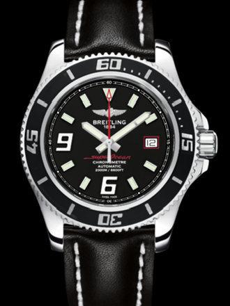 百年灵超级海洋44腕表系列A17391A8/BA76黑皮带