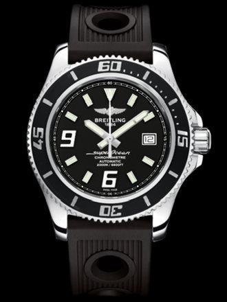 百年灵超级海洋44腕表系列A17391A8/BA77黑海洋竞赛胶带