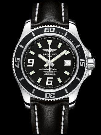 百年灵超级海洋44腕表系列A17391A8/BA77黑皮带